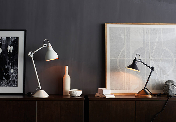 Lampe Gras | N°205 + N°207 table lamps
