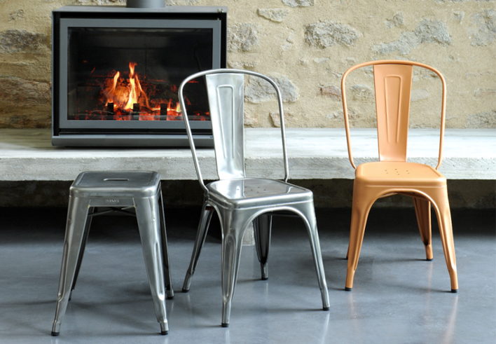 TOLIX | A chair + tabouret